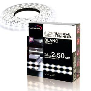 3M Kit bandeau led flexible blanc (2 x 50 cm)