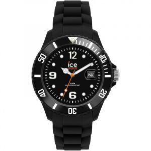 Ice Watch SI.BK.B.S.09 - Montre Homme - Quartz Analogique - Cadran Noir - Bracelet Silicone Noir - Grand Modèle