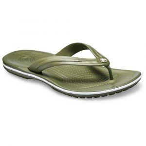 Crocs Crocband Flip, Tongs Mixte Adulte, Vert (Army Green/White 37p), 42/43 EU
