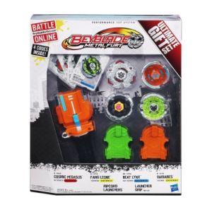 Hasbro Pack de 4 toupies Beyblade Metal Fury Ultimate Gift Set