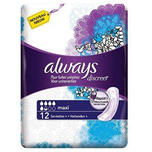 Always Discreet Maxi - 12 serviettes pour fuites urinaires