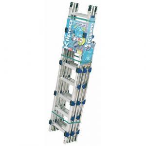 Tubesca 3. Echelle de couvreur de 6.90m de longueur: échelle avec crochets de toit. - ECHELLE DIRECT