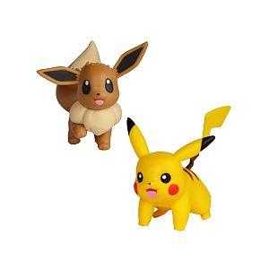 Bandai Coffret 2 Figurines 5 cm - Pokémon - Pikachu & Evoli