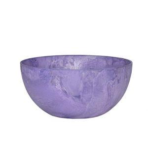 Artstone Pot de Fleurs, Coupe de Fleurs Fiona, résistant au Gel et ultraléger, Violet, 25x12cm
