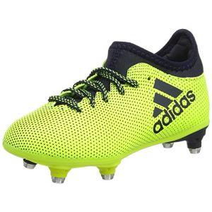 Adidas X 17.3 SG, Chaussures de Football Mixte Enfant, Jaune (Solar Yellow/Legend Ink/Legend Ink), 30 EU