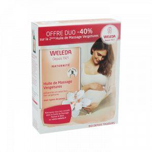 Weleda Huile de massage Vergetures - 2 x 100 ml