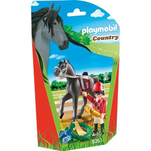 Playmobil 9261 Country - Jockey avec cheval de course