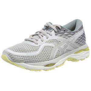 Asics Gel-Cumulus 19, Chaussures de Running Femme, Gris (Bleu Glacier Grey/Silver/Lime Light 9693), 37 EU