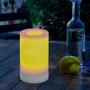Esotec Bougie solaire 75x120mm LED lumière solaire décoration de jardin bougie lumière 102232
