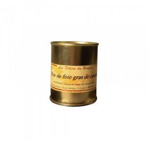 Halte Gourmande Bloc de foie gras de canard du Sud Ouest 130g TG