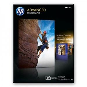 HP 25 feuilles de papier photo Advanced Glossy 250g/m² (13 x 18 cm)