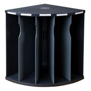 Exacompta 393714D - Trieur ergonomique THE CORNER 5 compartiments ECOBlack noir/gris souris