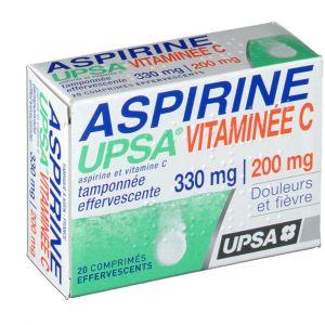 Upsa Aspirine Vitaminée C - 20 Comprimés effervescents