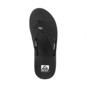 Reef Fanning, Flip-flop homme, Noir (Black/Silver) - 45 EU (11 UK )