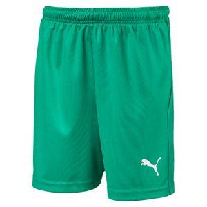 Puma LIGA Training Core - Short de jogging - Mixte Enfant - Vert (Pepper Vert/ Blanc) - FR: 14 ans (Taille Fabricant: 164)