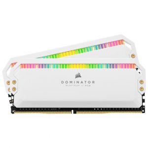 Corsair Dominator Platinum RGB White - 2 x 8 Go (16 Go) - DDR4 3200 MHz - CL16