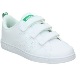 Adidas VS Advantage Clean, Baskets Mixte Enfant, Blanc (Footwear White/Footwear White/Green 0), 28 EU