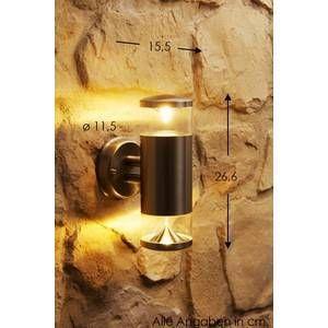 Globo Lighting Lampe d'extérieur Globo CARME LED Acier inoxydable, 2 lumières Design Extérieur CARME