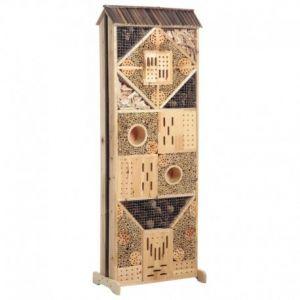Aubry Gaspard Maison à insectes double face bois 145 cm