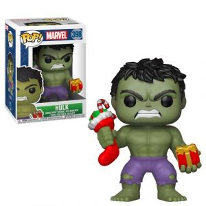 Funko Marvel - Bobble Head Pop N° 398 - Holiday Hulk [Figurine]
