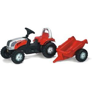 Rolly Toys Tracteur à pédales Steyr 6190 avec remorque