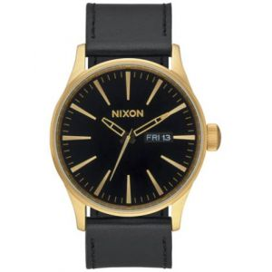 Nixon A105-513 - Montre pour homme The Sentry Leather