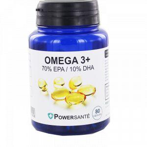 Powersanté Oméga 3+ 500mg - 80 capsules