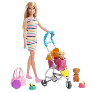 Mattel Coffret Barbie promenade des chiots