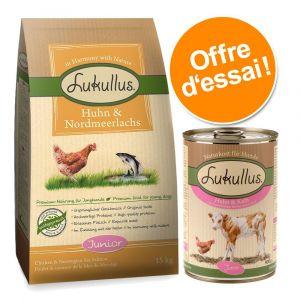 Lukullus Croquettes pour chiot poulet & saumon - 1,5 kg