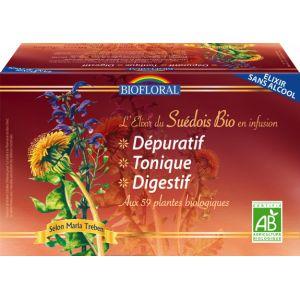 Biofloral Elixir du Suédois - Infusion Bio sans alcool 20 sachets
