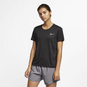 Nike Haut de runningà manches courtes Miler pour Femme - Noir - Taille L - Femme