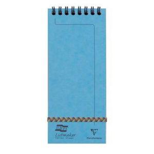 Clairefontaine 482/1115Z - Bloc Europa Listmaker format 76x180, 60 feuilles 90 g/m² reliure intégrale, ligné 7mm, couverture turquoise