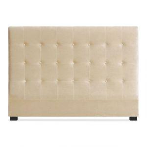 Menzzo Tête de lit velours beige NUDE 160 CM