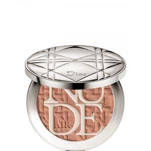 Dior Diorskin Nude Air Care & Dare 002 Amber Tan - Poudre éclat protecteur bonne mine naturelle avec pinceau Kabuki