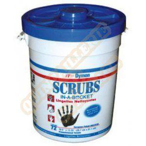 Scrubs 042272 - Seau de 72 lingettes nettoyantes mains