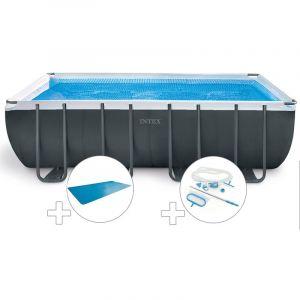 Intex Kit piscine tubulaire Ultra XTR Frame rectangulaire 5,49 x 2,74 x 1,32 m + Bâche à bulles + Kit d'entretien