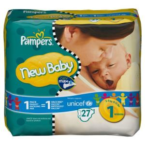 Pampers New Baby taille 1 Newborn (2-5 kg) - 27 couches