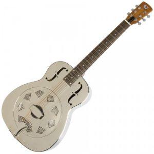 Epiphone Dobro Hound Dog M-14 Metal Body Round Neck - Guitare acoustique à résonateur Nickel