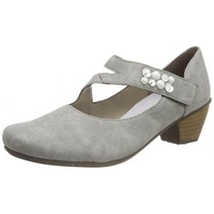 Rieker 41784, Escarpins Femme, Gris (Cement), 38 EU
