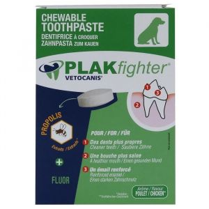 Vetocanis PLAK FIGHTER DENTIFRICE A CROQ 30COMP