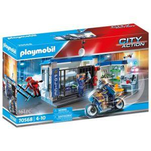 Playmobil Poste de police et cambrioleur City Action 70568