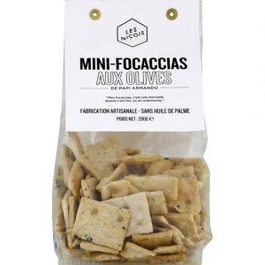 Les Niçois Mini-focaccia olive