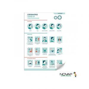 Novap Panneau Conseils et astuces COVID 19 - Rigide - A4
