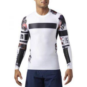 Reebok T-shirt Sport Crossfit Compression Tee Long Sleeve blanc - Taille EU S,EU M,EU L