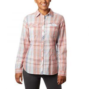 Columbia Camp Henry Ii Ls Shirt New Moon Large - Chemise - 2020 - Blanc/rose