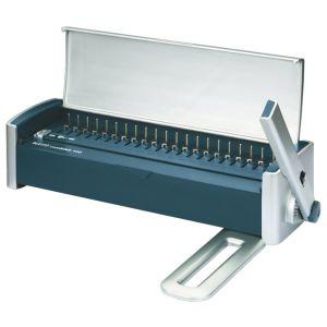 Leitz 7301-00-00 - Perfo-relieur ComBIND 100, pour spirales plastique jusqu'à 16 mm, coloris argent/bleu