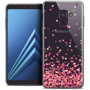 CaseInk Coque Samsung Galaxy A8+ (2018) A730 (6.0 ) Extra Fine Sweetie Heart Flakes