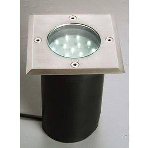 Lutec Spot LED encastrable pour extérieur ECO-Light Berlin 15 W acier inoxydable