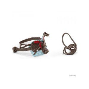 Schleich Horse Club Accessoire Selle & Bride Hannah & Cayenne, 42489, Multicolore
