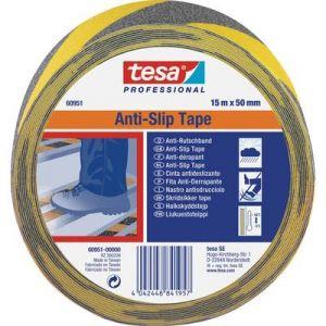 Tesa Adhésif anti-dérapant noir/jaune 15mx50mm 609510000000